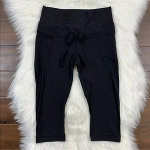 Lululemon Black Invert Crop Leggings Pants